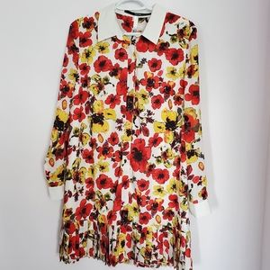 Kensie poppy shirt dress sz M